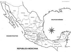 Mapas De México Para Colorear Diario Educación