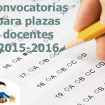convocatoria plazas 2015 2016
