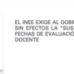 INEE comunicado evaluación