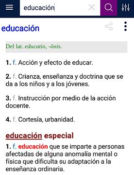 rae educación