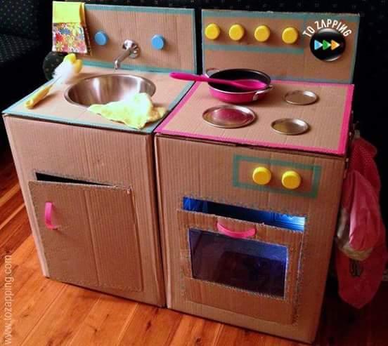 estufa de cartón
