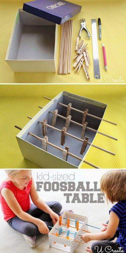 futbolito de cartón