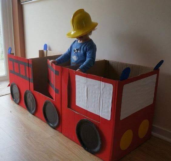 un gran carro de bomberos
