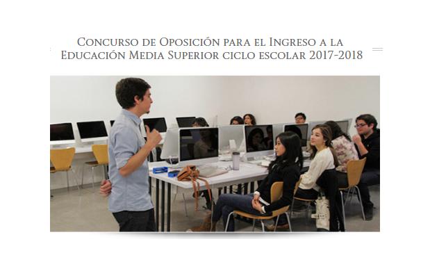 Convocatoria docente para el ingreso a la educaci n media for Convocatoria de docentes 2017