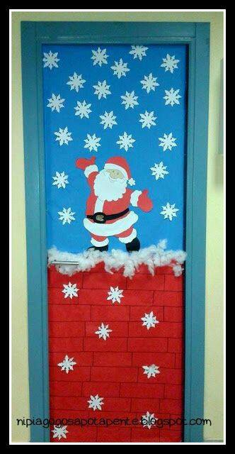 Puertas navide as decoraci n para tu sal n diario educaci n - Addobbi natalizi per la porta ...