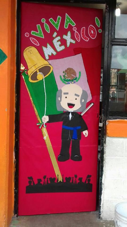 decoraci n de puerta del aula para el mes patrio diario